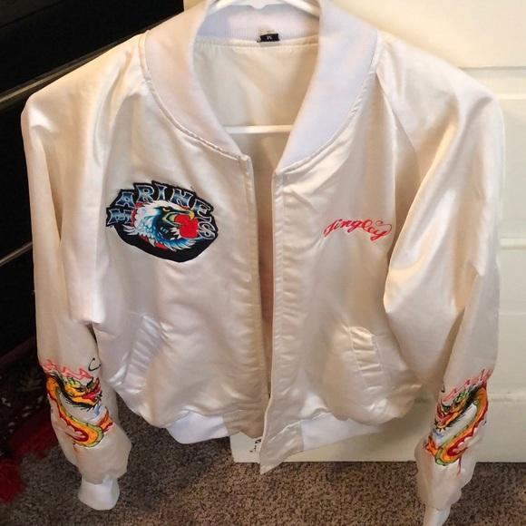 Vintage Jackets & Blazers - Vintage marines bomber jacket